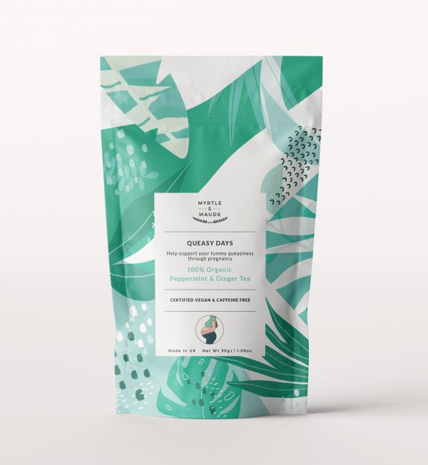 Myrtle & Maude Queasy Days 100% Organic Peppermint & Ginger Tea