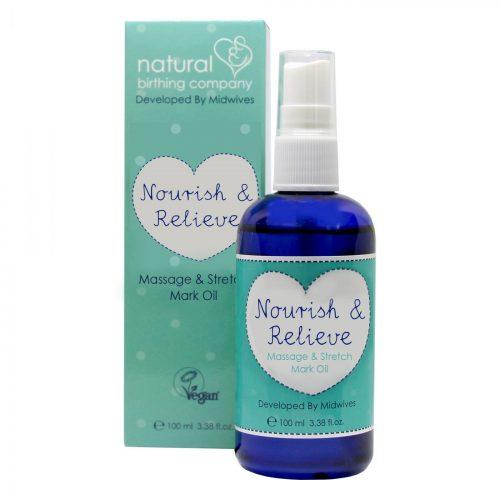 Natural Birthing Company Nourish & Relieve Massage Oil Mama Hug